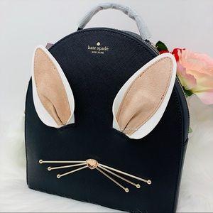 Rabbit sammi backpack bunny black Kate Spade white